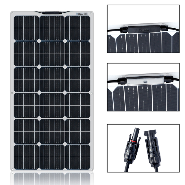 Boguang 100W solar panel 200W 300W 400W kit Panneau solaire flexible for 12V 24V battery car RV home outdoor Power charging 2