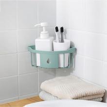 Plastic Kitchen Bathroom Corner Storage Rack Organizer Shower Shelf L0813
