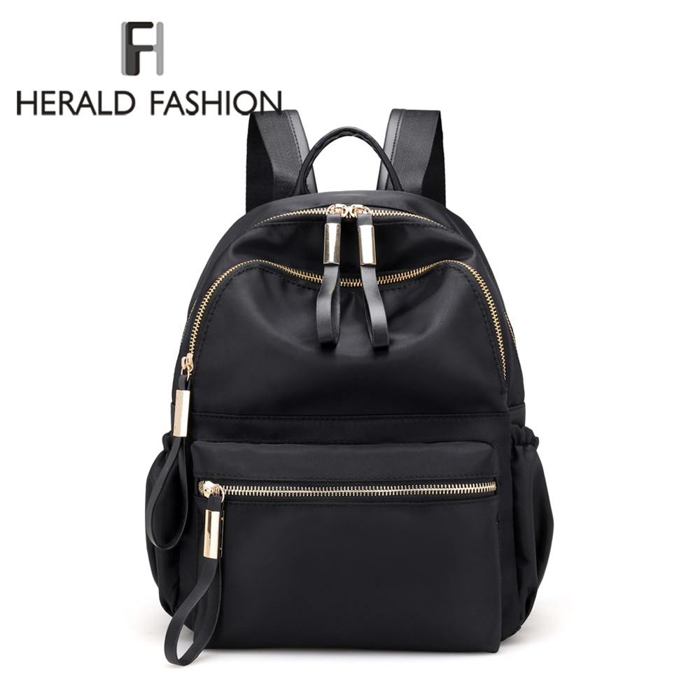 Herald Fashion Women Backpacks High Quality School Bags For Teenagers Female Nylon Travel Bags Girls Bowknot Backpack Mochilas