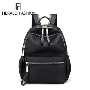 Mochilas Herald Fashion para mujer, Mochilas escolares de alta calidad para adolescentes, bolsas de viaje de nailon para niñas, Mochilas con lazo para niñas