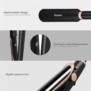 Image 5 - Профессиональный Выпрямитель для волос 2 в 1, инфракрасные щипцы для завивки волос, светодиодный дисплей, широкая пластина, плоский утюжок, инструменты для укладки, 45