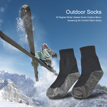 Heated-Socks Sport-Ornament Warm Outdoor Winter Skiing Soft for Exercise 1-Pair 35-Degree