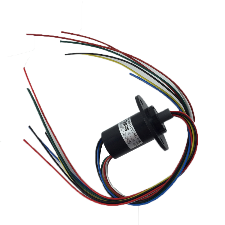 Wind Power Generation Slip Ring 8 Channel 5A Diameter 22mm High Current Conductive Slip Ring