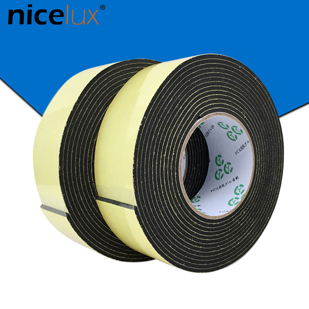 1pcs 5meter EVA Black Color Sponge Foam Super Sticky Rubber 2mm 3mm Non-slip Strong Stripsealing Shockproof Cushioning Tape