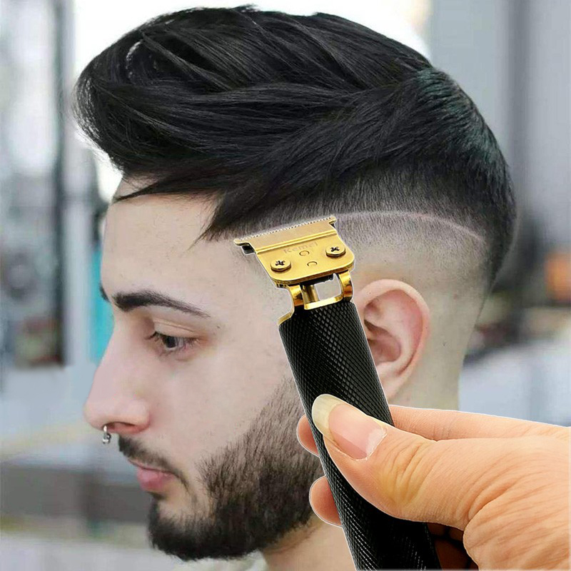 Kemei 1971 Pro Li T-Outliner Skeleton Heavy Hitter Cordless Trimmer Men 0mm Baldheaded Hair Clipper Finish Hair Cutting Machine