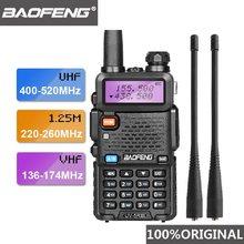 2021 baofeng UV-5R iii tri-band antena dupla walkie talkie vhf 136-174mhz/220-260mhz & uhf 400-520mhz presunto scanner de rádio uv5r uv 5r