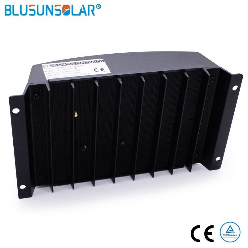 20A-60A 12/24V MPPT wyświetlacz LCD solarny pv regulatory ładowania PWM kontroler ładowarki słonecznej Dual USB regulator ładowania słonecznego