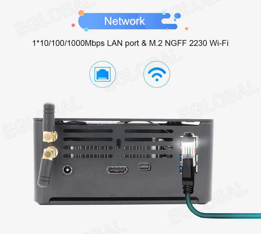 Eglobal 8TH Gen Mini PC Core I7 8750H 4K HD Windows 10 Xeon Klien NVME SSD Desktop Linux core I5 I9 8950H Game Komputer