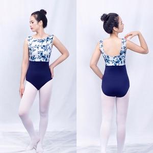 Image 2 - Ballet Printing Leotard Adult High Quality Practice Ballet Vest Dancing Costume Women Gymnastics Leotard Dance Coverall