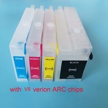 Hp 953 953XL многоразовый картридж с V8 версией постоянного чипа для hp OfficeJet Pro 7740/8210/8710/8720/8725/8728/8730/8740
