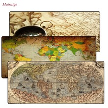 World Map Rubber mouse pad large Lock Edge mat desk mats big mousepads gaming rug XL for office work/