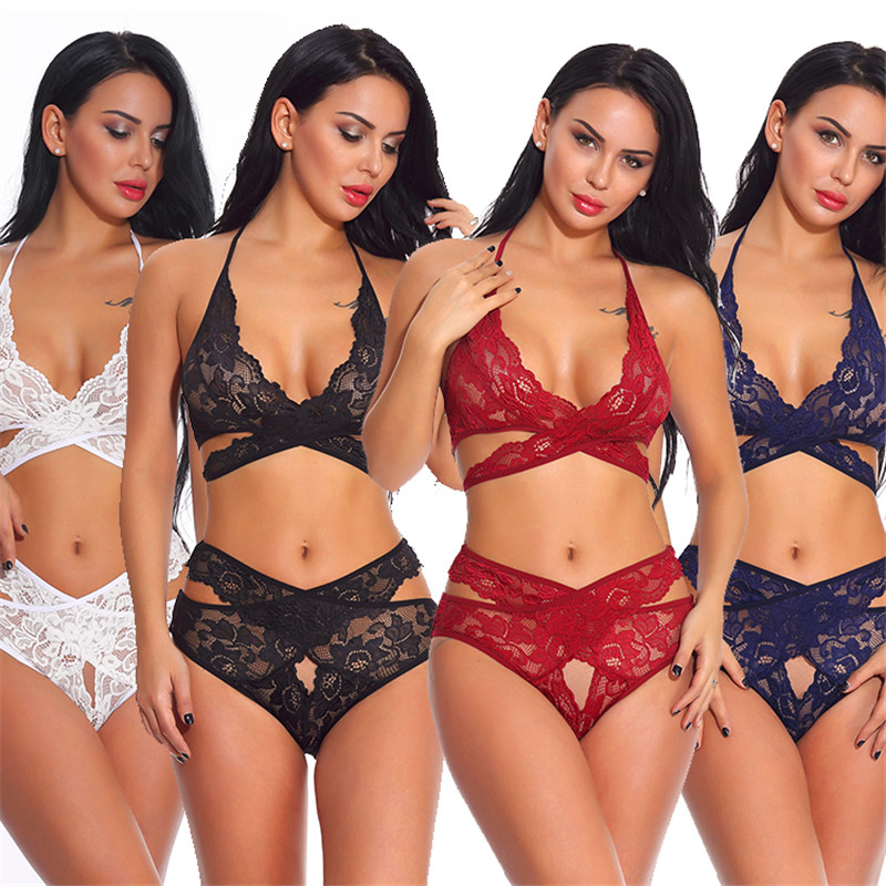 Women Lingerie Set With Garter Belts Sexy Bra And Panty Underwire Lingerie Sets