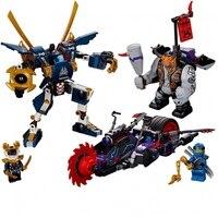 565 шт. 10805 серии ниндзя Совместимые модели Legoinglys ninja killow против самурая x mecha строительные блоки игрушки DIY Детский подарок