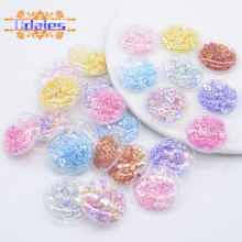 32Pcs 28mm Shake Circle Patches for Baby Girls Headwear Crafts Supplies Shake Shake Round Appliques Hairband Accessories