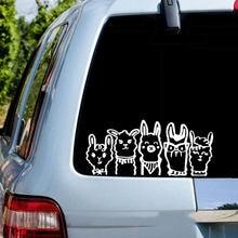 Виниловые Альпака семейные наклейки на автомобиль наклейка авто