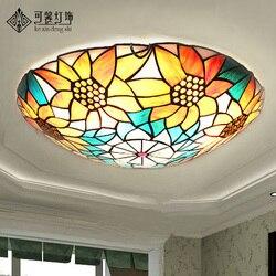 European Garden sunflower ceiling lamps  modern minimalist bedroom study living room lamps lighting LED lamp iron Yang