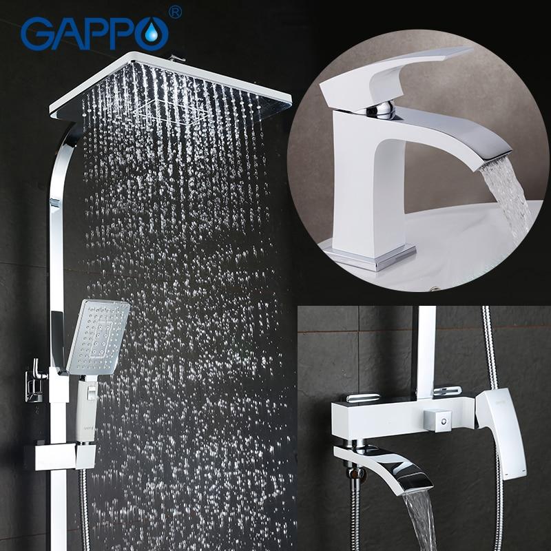 GAPPO Vasca Da Bagno Rubinetti Rubinetti Doccia Bagno miscelatore doccia vasca da bagno doccia a pioggia set Rubinetto Del Bacino set doccia sistema di Y03