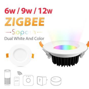 GLEDOPTO 6W/9W/12W Smart Home Zigbee RGB+CCT LED Downlight Ceiling Lamp Bulb Downlight Ceiling Lamp Bulb Downlight Ceiling Lamp