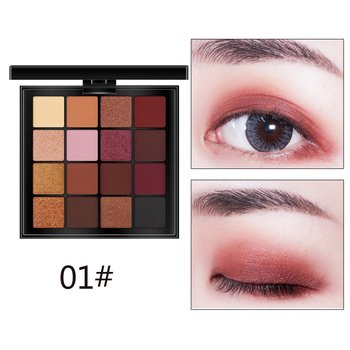 Women Fashion Eyeshadow Palette Matte 16 Color Eye Shadow Pallete Makeup Cosmetics Professional Natural Mate Stamp Pigment