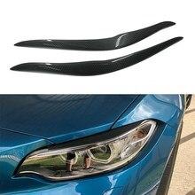 Faróis de fibra de carbono sobrancelha pálpebra adesivo para bmw f87 m2 f22 f23 220i 228i m235i m sport coupe 2 door 2014-2019