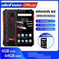 Ulefone Armor 6E водонепроницаемый IP68 NFC прочный мобильный телефон 2 4G/5G WiFi Helio P70 Android 9 0 4 Гб + 64 Гб беспроводной зарядный смартфон