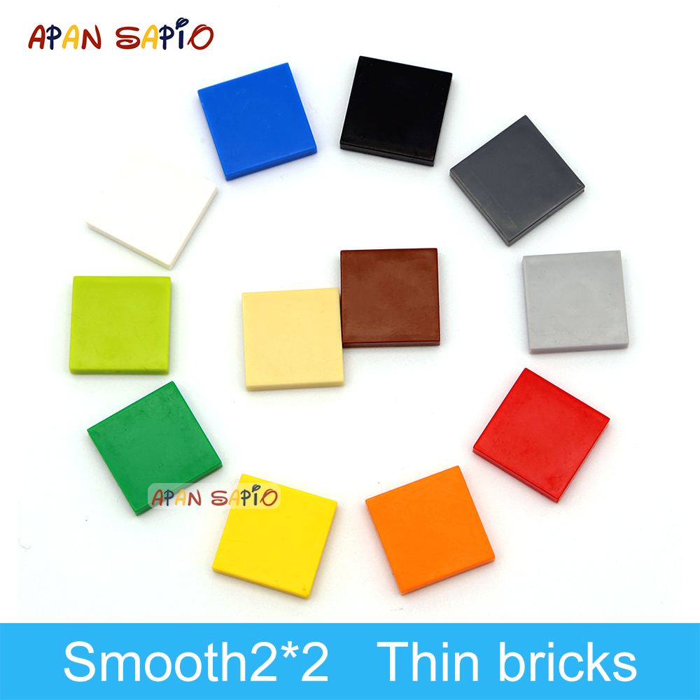 200pcs DIY Building Blocks Figure Bricks Ceramic Tile 2x2 Educational Creative Size Compatible With 3068 Toys for Children