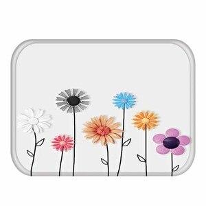 Image 5 - 40*60cm Zarte Blume Muster Rechteckigen Flanell Weichen Teppich Kann Waschen Eingang Boden Küche Boden, bad Nicht slip Matte.