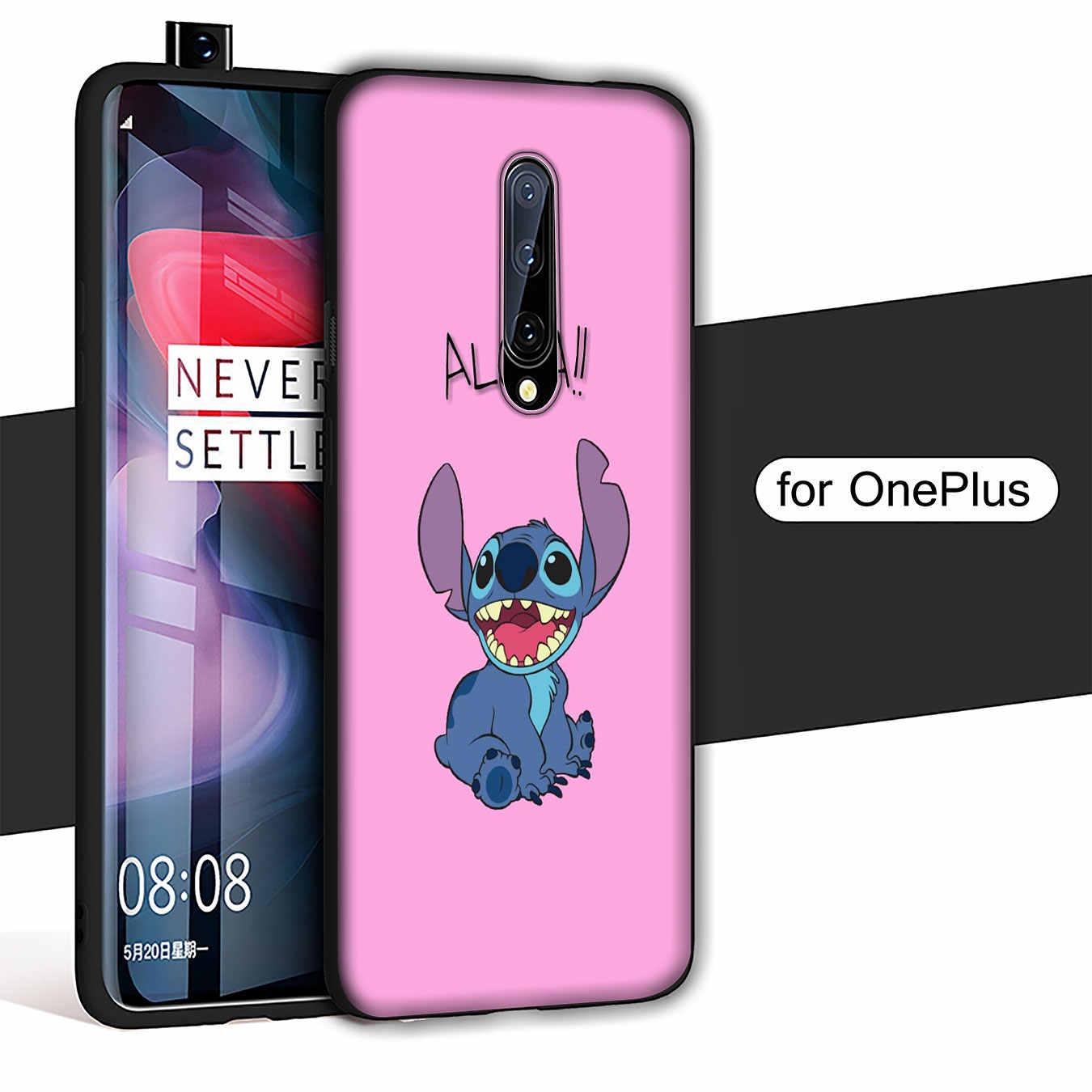 Sevimli karikatür Lilo dikiş yumuşak TPU siyah silikon telefon kılıfı OnePlus 7T 7 Pro 6 6T 5 5T bir artı 7Pro kapak