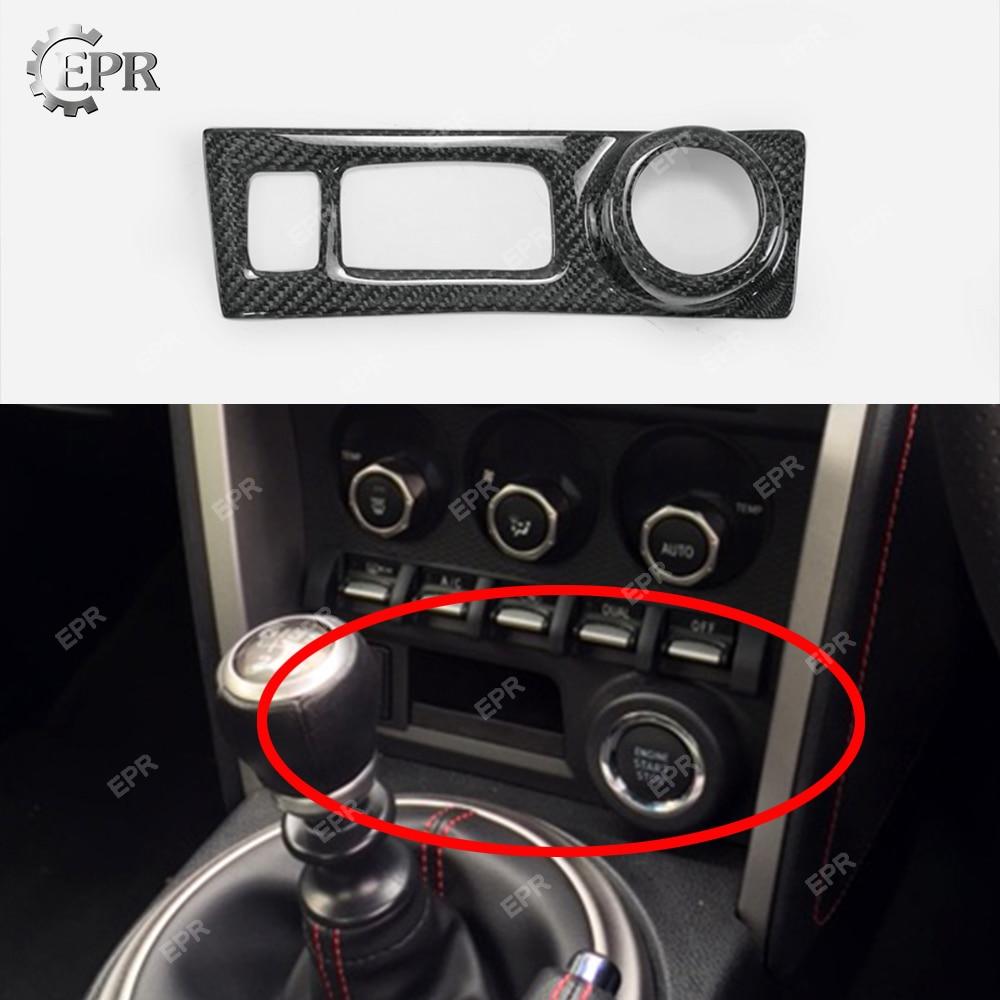Ajuste Interior de carbono para BRZ FT86 GT86 cubierta de Control de Radio de fibra de carbono (RHD) Kit de sintonización para FT86 BRZ Racing