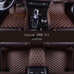 Автомобильный напольный коврик HLFNTF для VOLKSWAGEN vw passat b5 touran 2005 Touareg polo sedan golf 6 sharan, водонепроницаемые автомобильные аксессуары