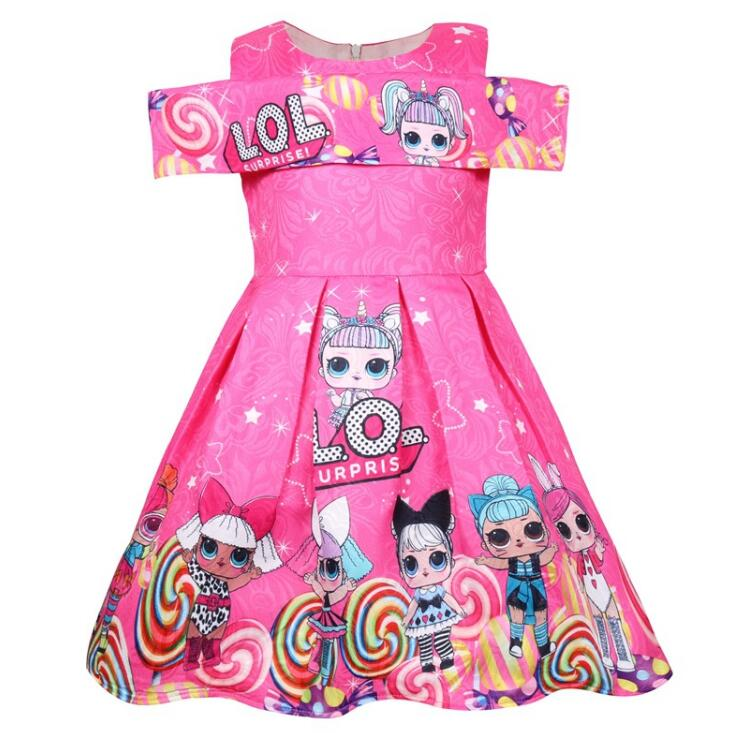 L.O.L. SURPRISE! Girls Dress Children Baby Dresses Girl Princess Birthday Party Dress Summer Sleevless Vestido Xmas Dress