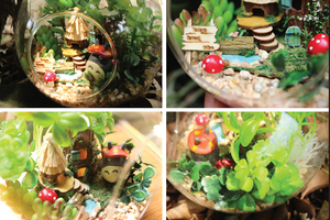 Image 4 - DIY Glass Ball Doll House Cute Totoro Dollhouse Model Kits Handmade Wooden Miniature Assembling dollhouse Toy Kids Birthday Gift
