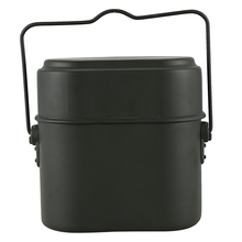Army Soldier Outdoor Camping Mess Kit Lunch Protable Dinner Box Canteen Kettle Pot Bowl цена и фото