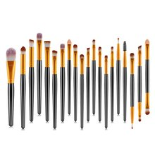 20PCS/SET Professional Women Eyes Makeup Brushes Set Plastic Handle Eye Shadow Eyebrow Eyeliner Lip Cosmetic Brush Tools