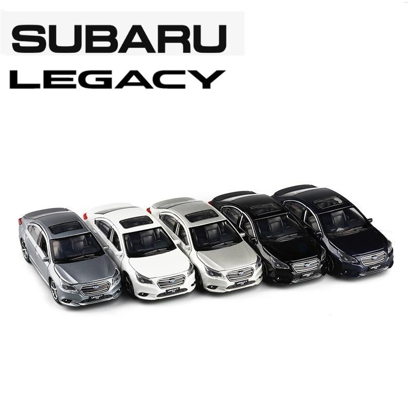 JACKIEKIM 1:32 Subaru Legacy White Sound & Light Pull Back Diecast Model Car