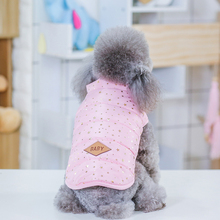 Pet Dog Clothes Coat Winter Shiny Hot Stamping Waterproof Puppy Vest Jacket Warm Overalls Supplies
