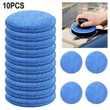 10pcs Clean Buffer Car Cleaning Soft Vehicle Accessories Foam Applicator Car Wax Sponge Dust Remove Auto Care Polishing Pad