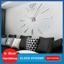 Design moderno Mini fai da te grande orologio da parete adesivo muto digitale 3D parete grande orologio soggiorno Home Office Decor regalo di natale