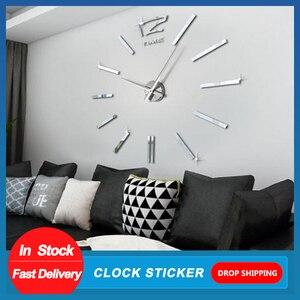 Image 1 - Design moderno Mini fai da te grande orologio da parete adesivo muto digitale 3D parete grande orologio soggiorno Home Office Decor regalo di natale