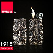 Оригинальная зажигалка imco в стиле ретро с 3d рельефным драконом