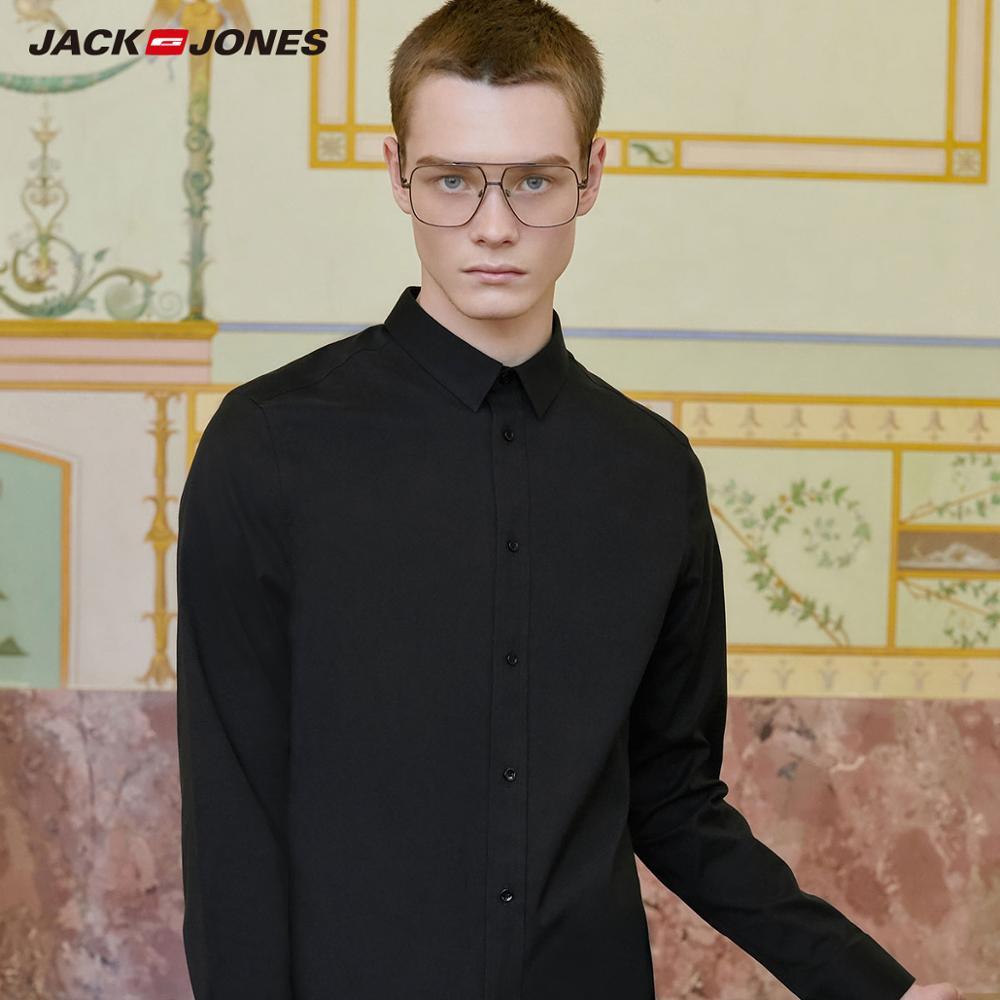 JackJones Men's Smart Casual 100% Cotton Non-Iron Fabric Shirt Basic 219305516