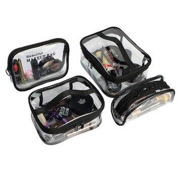 Transparent PVC Cosmetic Travel Bag, Makeup Organizer Bag, Grooming Kit, Bathroom Waterproof Packing Cubes, Toiletries Bag фото