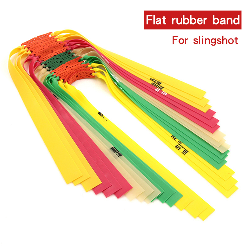 5/10pc Slingshot Flat Rubber Band Catapult Bow Natural Latex Elastic Resilient Rubber Band Outdoor Hunting Shooting Accessories