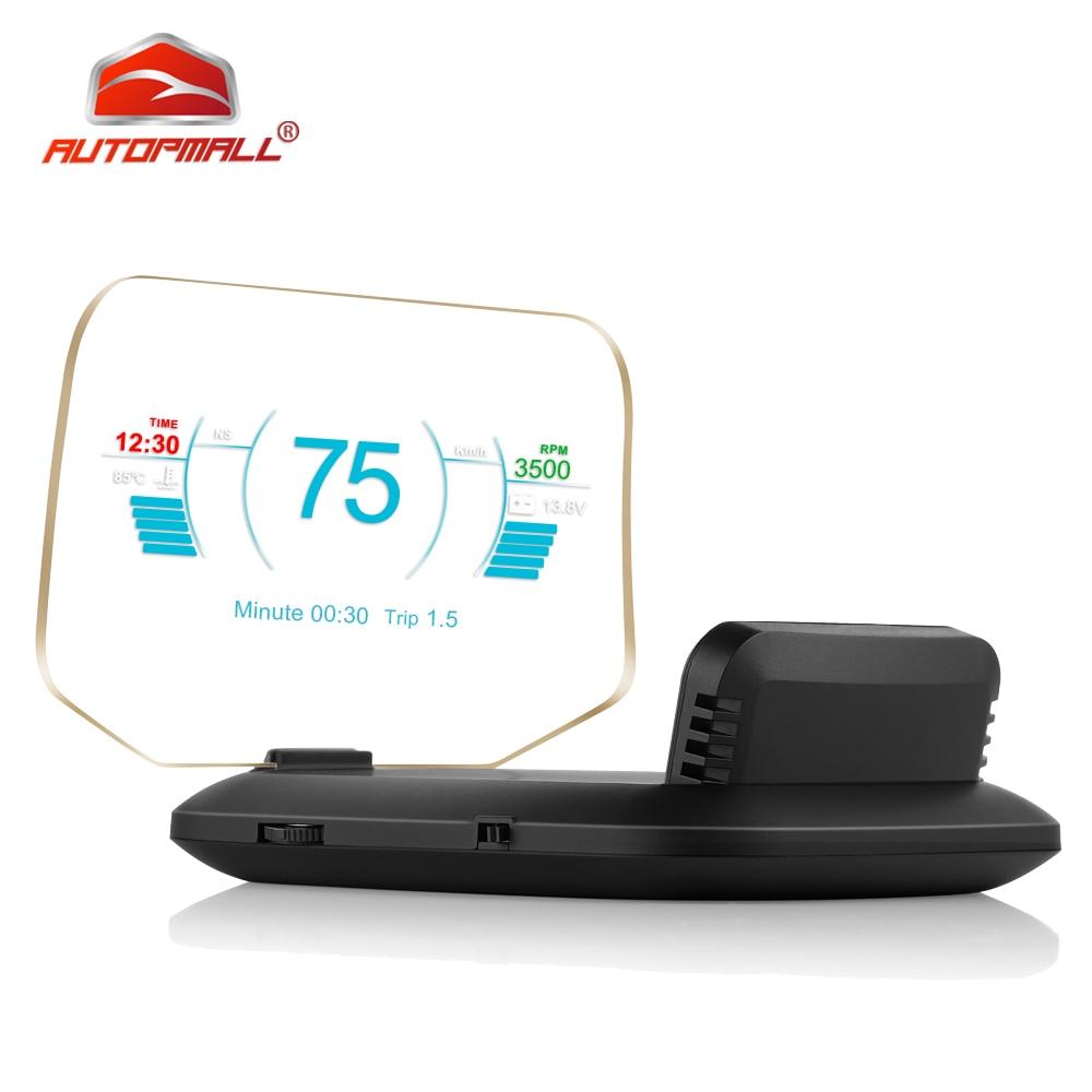 Date affichage tête haute OBD voiture électronique HUD affichage voiture compteurs de vitesse C1 avertissement de survitesse OBD2 + GPS double Mode GPS compteur de vitesse