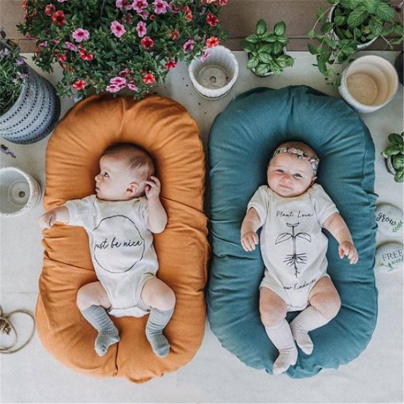 Portable Baby Crib Bed Travel Bed Infant Cotton Cradle Nest For Newborn Baby Bed Nest Room Decor
