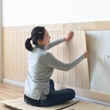 Wallpaper Self-Adhesive Stickers Bedroom Living-Room Solid-Wood Waterproof Warm Mildew
