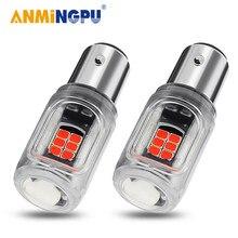 Anmingpu 2x lâmpada de sinal 1157 p21/5w bay15d led canbus bulbo 3030smd 1156 r5w p21w ba15s bau15s py21w sinal de volta luz de freio