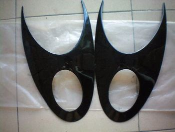 Fibreglass Headlight Eyebrows Covers for 2003-2007 Nissan March K12 2004 2005