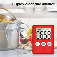 Super fino lcd tela digital cozinha temporizador de contagem regressiva magnet relógios cronômetro sono temporizador temporizador relógio dropshipping