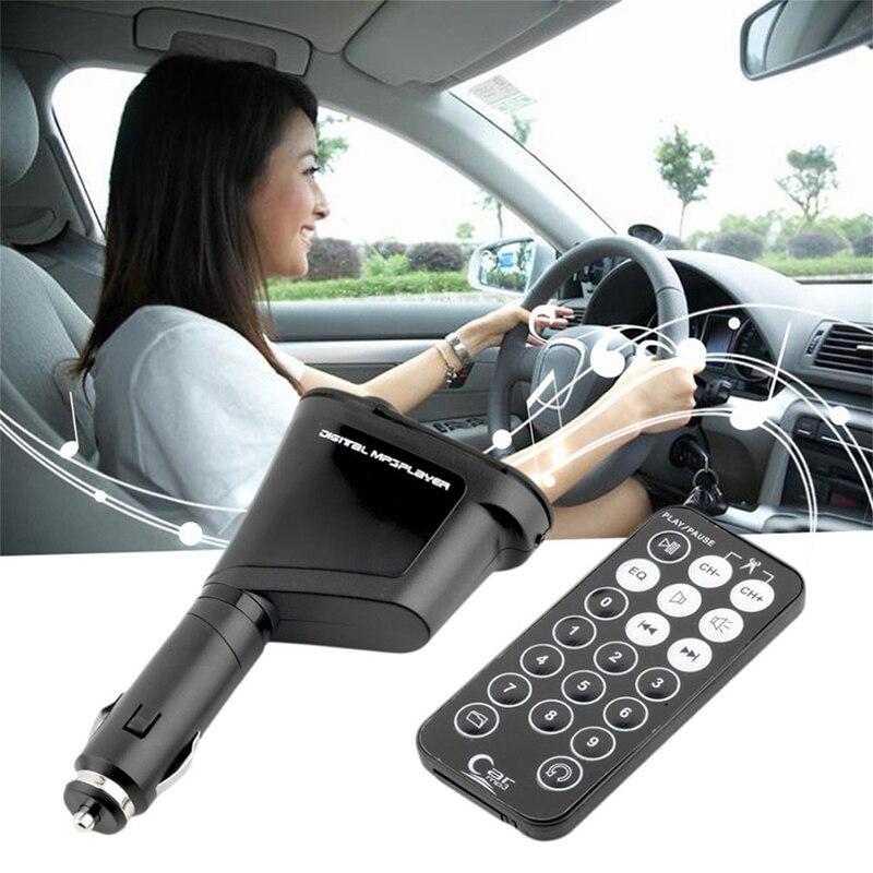 Com USB Display LCD Controle Remoto Kit Carro Profissional MP3 Leitor de Música Sem Fio FM Transmissor Modulador